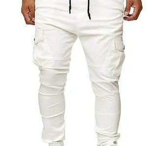 White XL Joggers